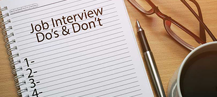 7 Things You Should Never Do at a job interview